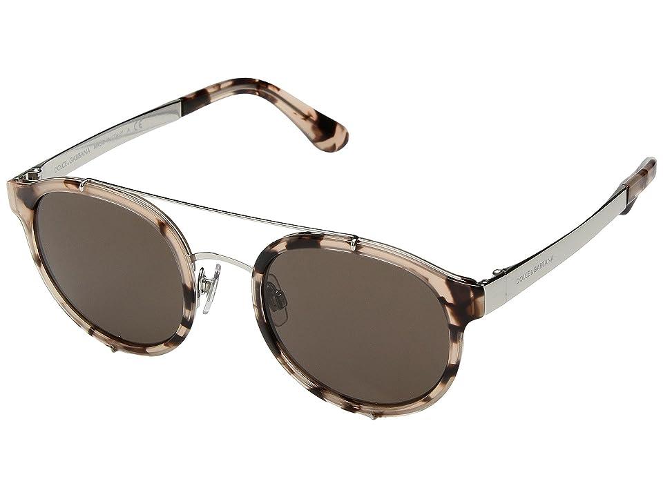 Dolce & Gabbana DG2184 (Nude Havana/Brown) Fashion Sunglasses
