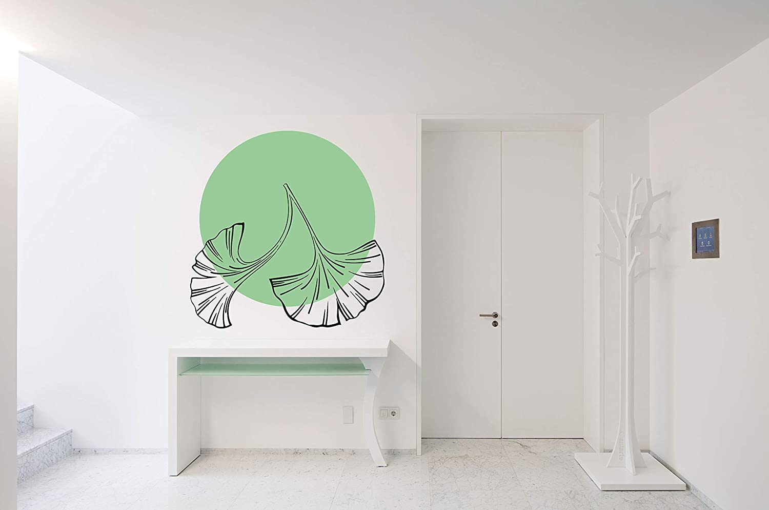 Ginkgo Biloba Tulsa Mall Leaf Plant Aesthetic Room Vinyl Sticker M Wall Inventory cleanup selling sale Car