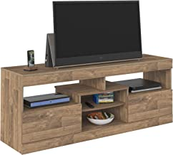 Artely Texas TV Table for 60 inch TV, Rustic - H 61.5 cm x W 160 cm x D 42.5 cm