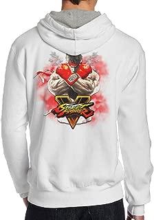 SAMMOI Street Fighter V 4 Men's Hooded Sweatshirt White