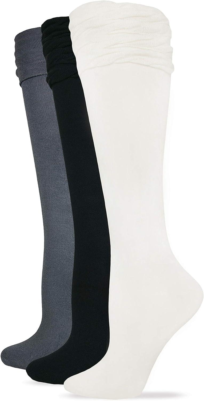 Wrangler Ladies Ruffle Top Knee High Boot Socks 3 Pair