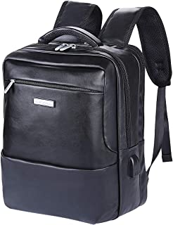 VIDENG Leather Backpack Laptop Bag Office School Bookbag