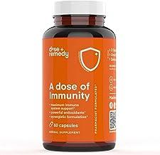 A Dose of Immunity Quercetin with Vitamin C and Zinc, Vitamin D, 500mg Quercetin Bromelain with Echinacea & B Vitamins, Lu...