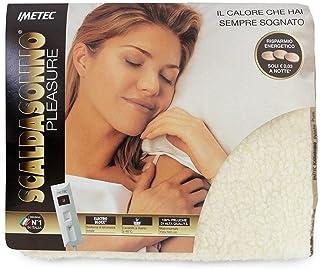 Imetec 6406 - Calefactor de peluche, color crema, para cama de matrimonio, 150 x 160 x 1 cm