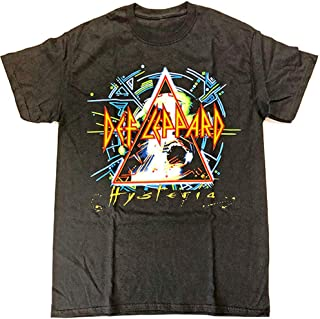 Def Leppard T Shirt Hysteria Tour Euro 2018 Band Logo Official Mens Black