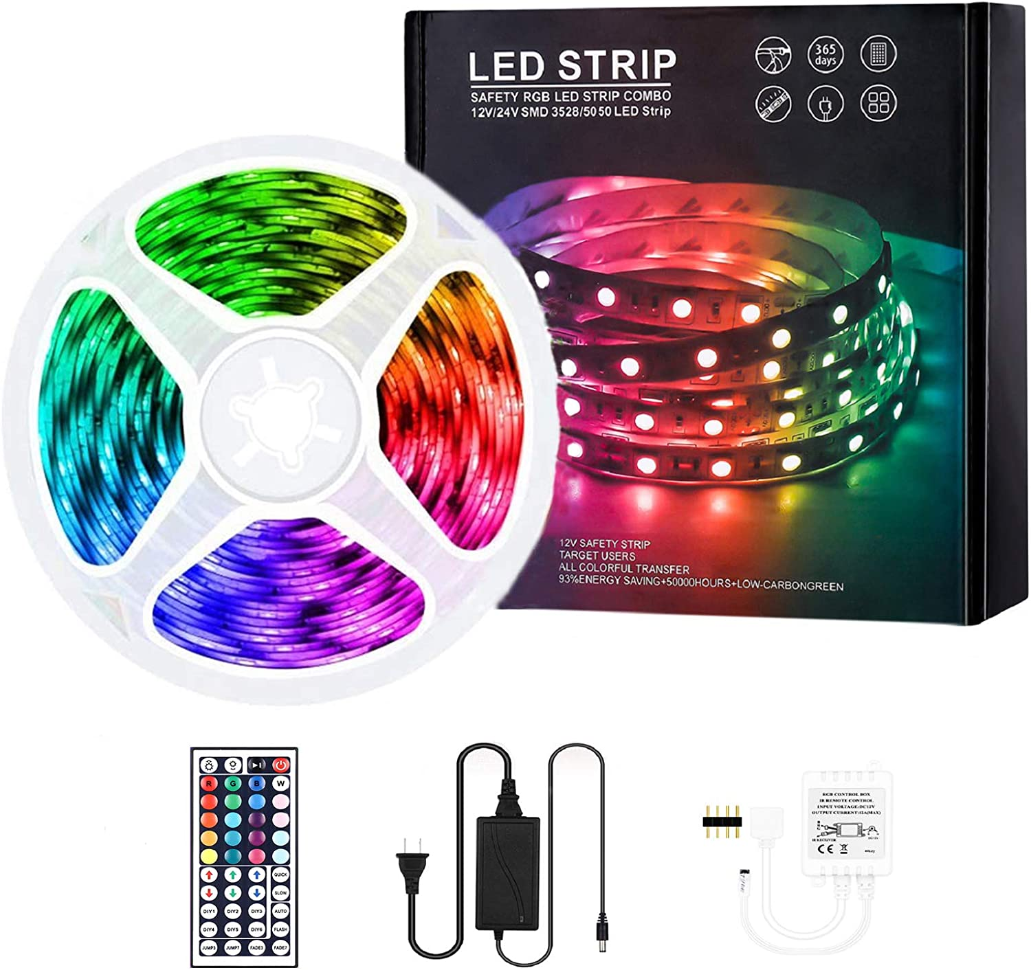 Max 45% OFF Led Strip Lights 16.4ft RGB LEDs 300 Light Color Changing Dealing full price reduction