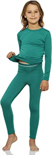 Thermal Underwear for Girls Fleece Lined Thermals Kids Base Layer Long John Set