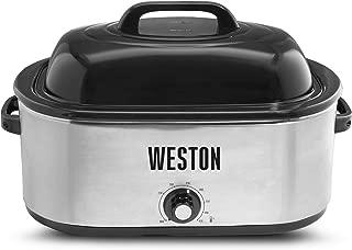 Weston 03-4100-W Roaster Oven, 22 Quart, Stainless Steel