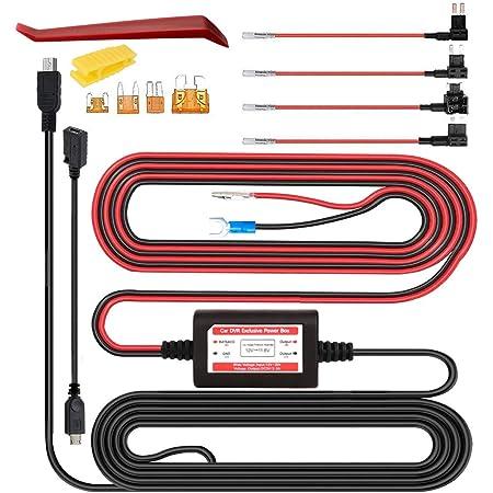 Gebildet Dash Cam Hardwire Kit Mini Micro Usb 12v 24v Bis 5v Niederspannungsschutz Acn Acs Acu Acz Micro 2 Fügen Sie Einen Sicherungshalter Für Die Schaltung Hinzu Baumarkt
