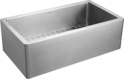 American Standard 1180SB3620SS.075 Avery 36x20-inch Single Bowl Apron Kitchen Sink, Stainless Steel