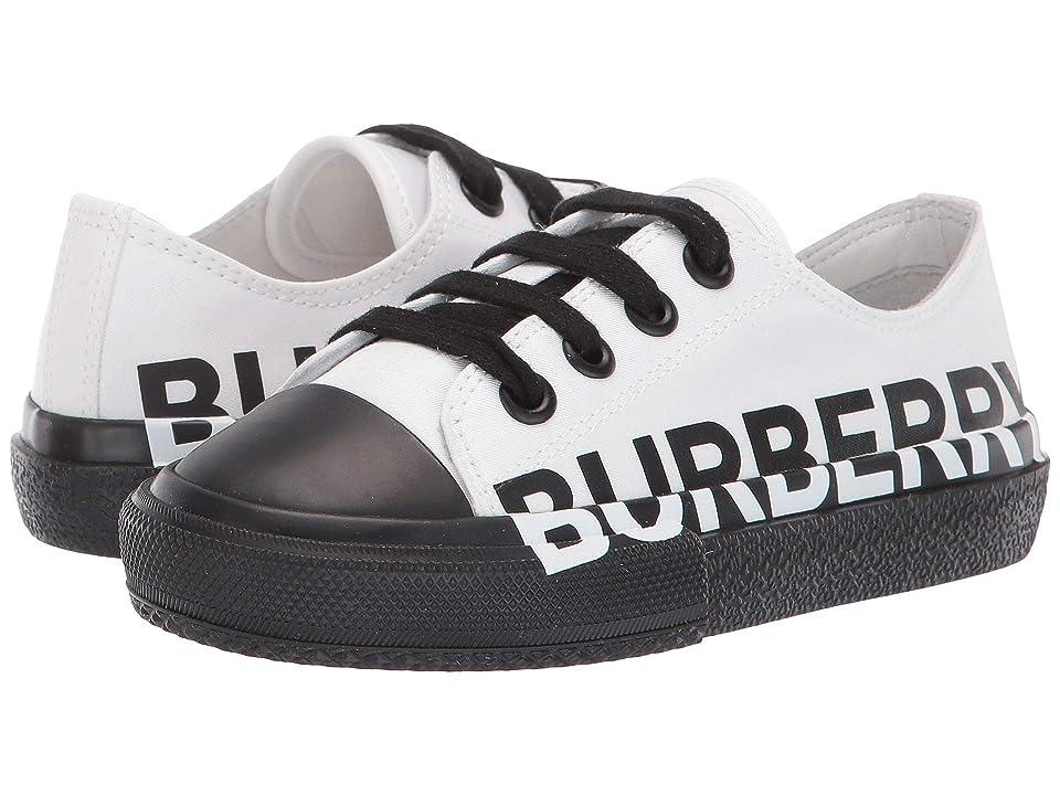 Burberry Kids Mini Larkhall Log Sneaker (Toddler/Little Kid) (Optic White/Black) Kid