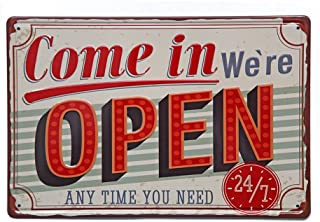 NEW DECO Come in We are Open Metal Tin Sign Vintage Retro Wall Decor Art 8x12 Inches(20x30cm)