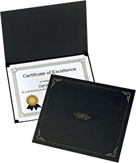 Oxford Certificate Holders, Black, Letter Size, 25 Per Pack (299550)