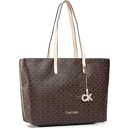 Calvin Klein Shopper Tasche 48,5 cm , Einheitsgröße , Brown Mono Mix