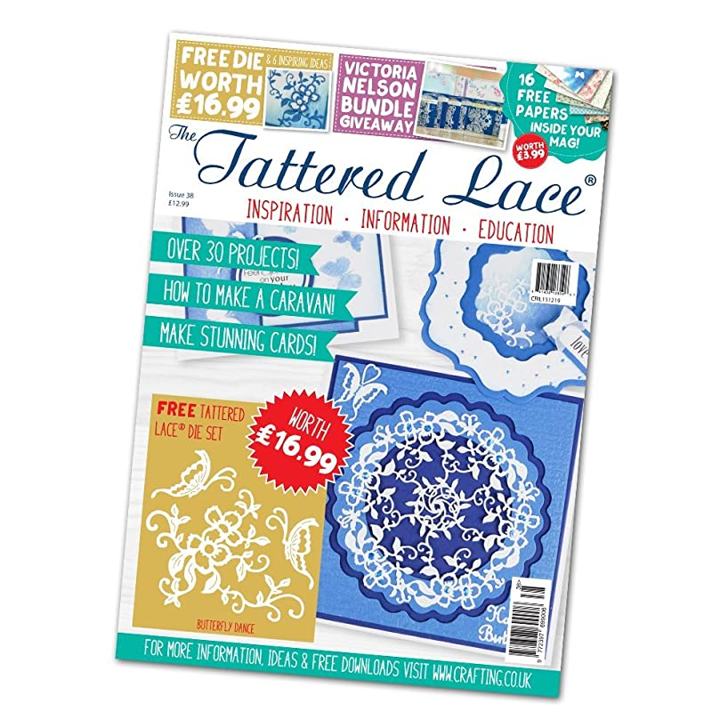 Tattered Lace Magazine - Issue #38 with FREE Butterfly Dance (3pc) Die Set, TTLMAG38