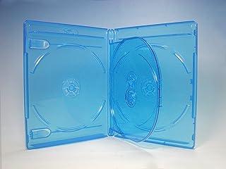 ブルーレイケース 4枚収納 100個 / クリアブルー/ロゴ有 (Blu-rayケース/BDケース)
