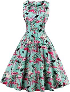 flamingo rockabilly dress