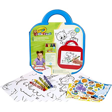 Crayola - Mini Kids - Mon 1er pupitre effaçable à sec (Pochette à dessin) - Coloriage pour enfant et tout petit - 256416.009