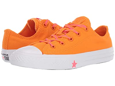 Converse Kids Chuck Taylor All Star Glow Up Ox (Little Kid) (Orange Rind/Racer Pink/White) Girls Shoes