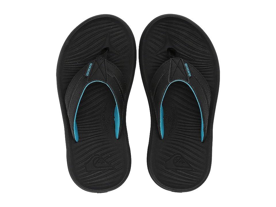 Quiksilver Kids Oasis (Toddler/Little Kid/Big Kid) (Black/Black/Brown) Boys Shoes