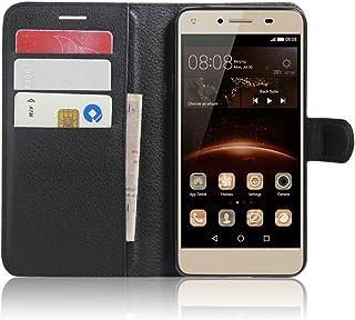 a39dc60ffae SMTR Huawei Y5II / Huawei Y5 2 Fundas de PU Cuero Flip, Standing Leather  Wallet