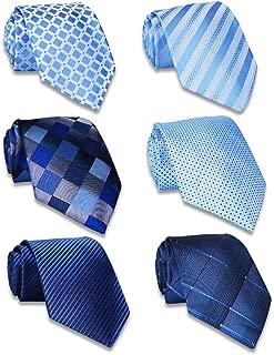 AVANTMEN Classic Men's Neckties - Lot 4/6/9 PCS Neck Ties for Men Classy Woven Jacquard Slik Ties