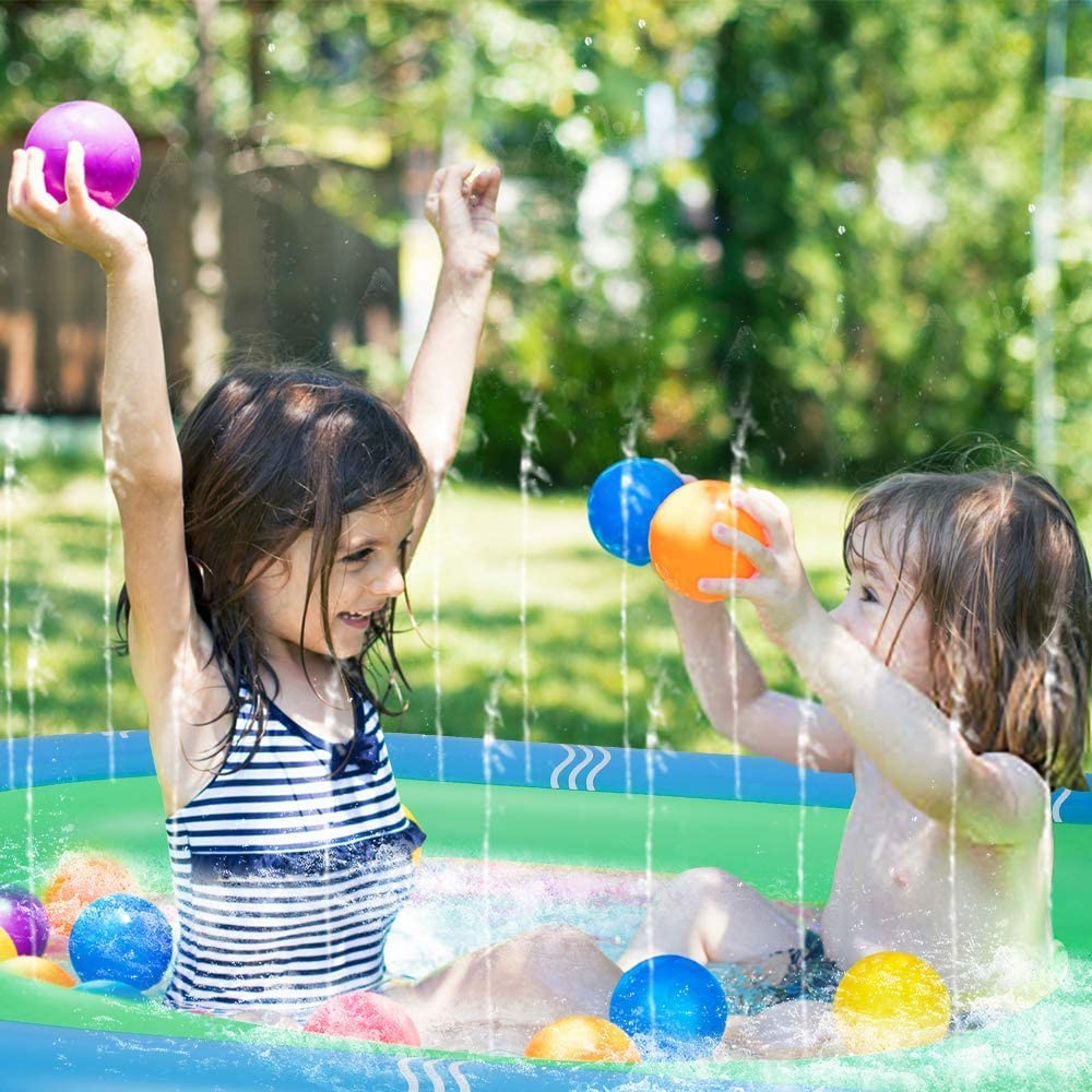 Small Sprinkler for Kids Toddlers Preschoolers Inflatable Water Toys Outdoor Backyard Water Play Mat Wading Swimming Pool Ankuka Splash Pad Summer Fun Toys for Kids Children Dogs