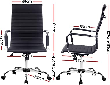 Artiss Gaming Office Chair Computer Desk Chairs Home Work Study Black High Back