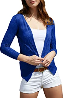 Womens Cardigans Lightweight Long Sleeve Crochet Casual Open Front Knit Cardigan Sweaters