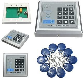 Feefine RFID Proximity Door Control System Kit,Security RFID Proximity Entry Door Lock Control System with 10 Keys Senser Reader AD2000-M