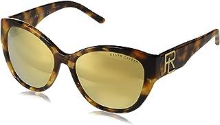 نظارة شمسية للنساء من رالف لورين، لون ذهبي، 55 ملم RL8168 56157P 55