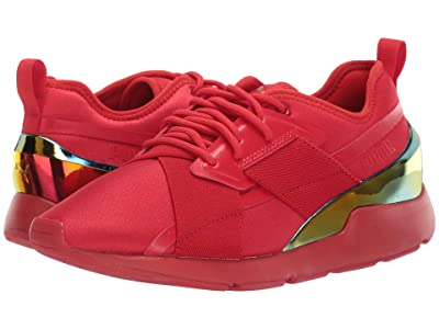 PUMA Muse X-2 Iridescent (High Risk Red/High Risk Red) Women