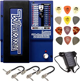 Digitech Bass WHAMMY Pitch Effect Pedal Bundle with Dunlop Variety Pick Pack and 3 MXR Patch Cables