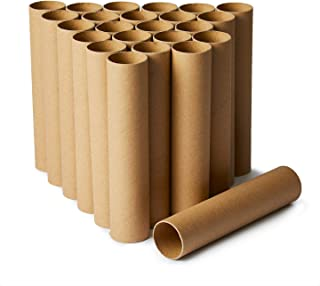 Craft Rolls, 24-Pack Paper Cardboard Tubes for DIY Crafts, 7.8 Inches, Brown