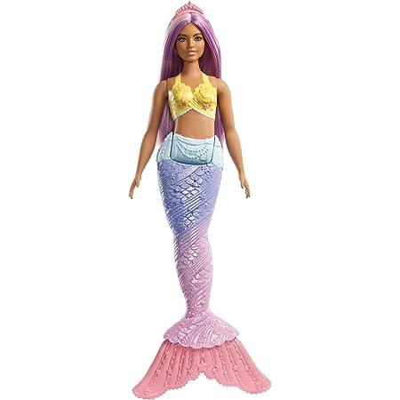 jouet pour enfant FXT09 Barbie Dreamtopia poup/ée Sir/ène avec une Queue Arc-En-Ciel et des Cheveux Violets