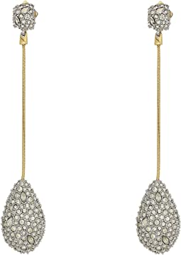Pave Teardrop Post Earrings