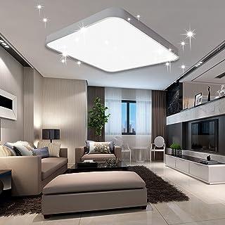 vingo 60w led deckenleuchte kaltweiss sternenhimmel wohnzimmerlampe kuchenleuchte deckenbeleuchtung panel luster ultraslim schlafzimmer esszimmer