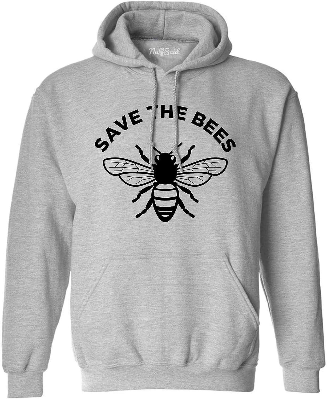 NuffSaid Save The Bees Hooded Sweatshirt - Unisex Honey Bee Environment Hoodie