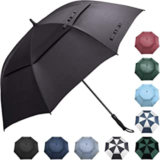 Golf Umbrella 62/68 inch Large Automatic Open Windproof Double Canopy Oversized Stick Vented Umbrellas