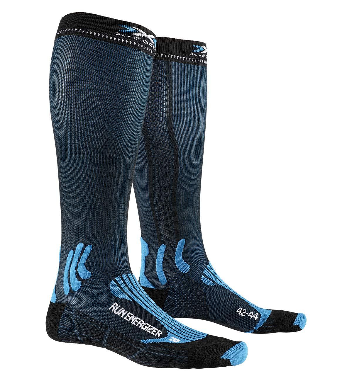 X-Socks Socks Run Energizer, Teal Blue/Opal Black, 42-44, XS-RS09S19U-A007-42/44