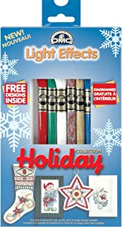 DMC 317WPK4 Light Effects Polyester Embroidery Floss, 8.7-Yard, Holiday