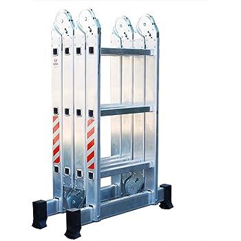 Escalera Andamio Plataforma Plegable de Aluminio Multifuncional 4x3. Escada Multiuso em Alumínio (12 Peldaños / 12 Degraus). Hecho/Fabricado en Europa: Amazon.es: Bricolaje y herramientas