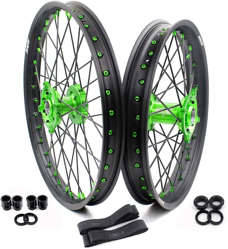 KKE 21 19 Spring new work one after another MX Rare CNC Wheels Rims KAWASAKI 2006 Set KX250F for KX450F