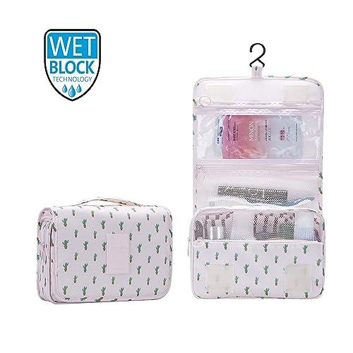 92fc6ae7dda0 Hanging Travel Toiletry Bag Nylon Portable Makeup Comestic Organiser  Folding Travel Wash Bag with Detachable Clear