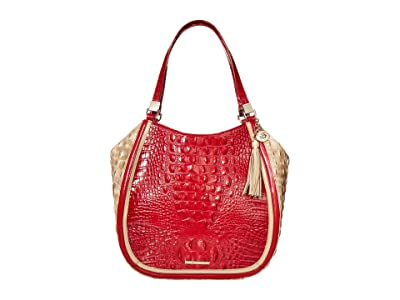 Brahmin Fuego Marianna Satchel (Ember) Handbags