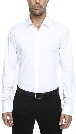 Caramelo, Camisa Vestir CRO Slim Cuello Ingles, Hombre
