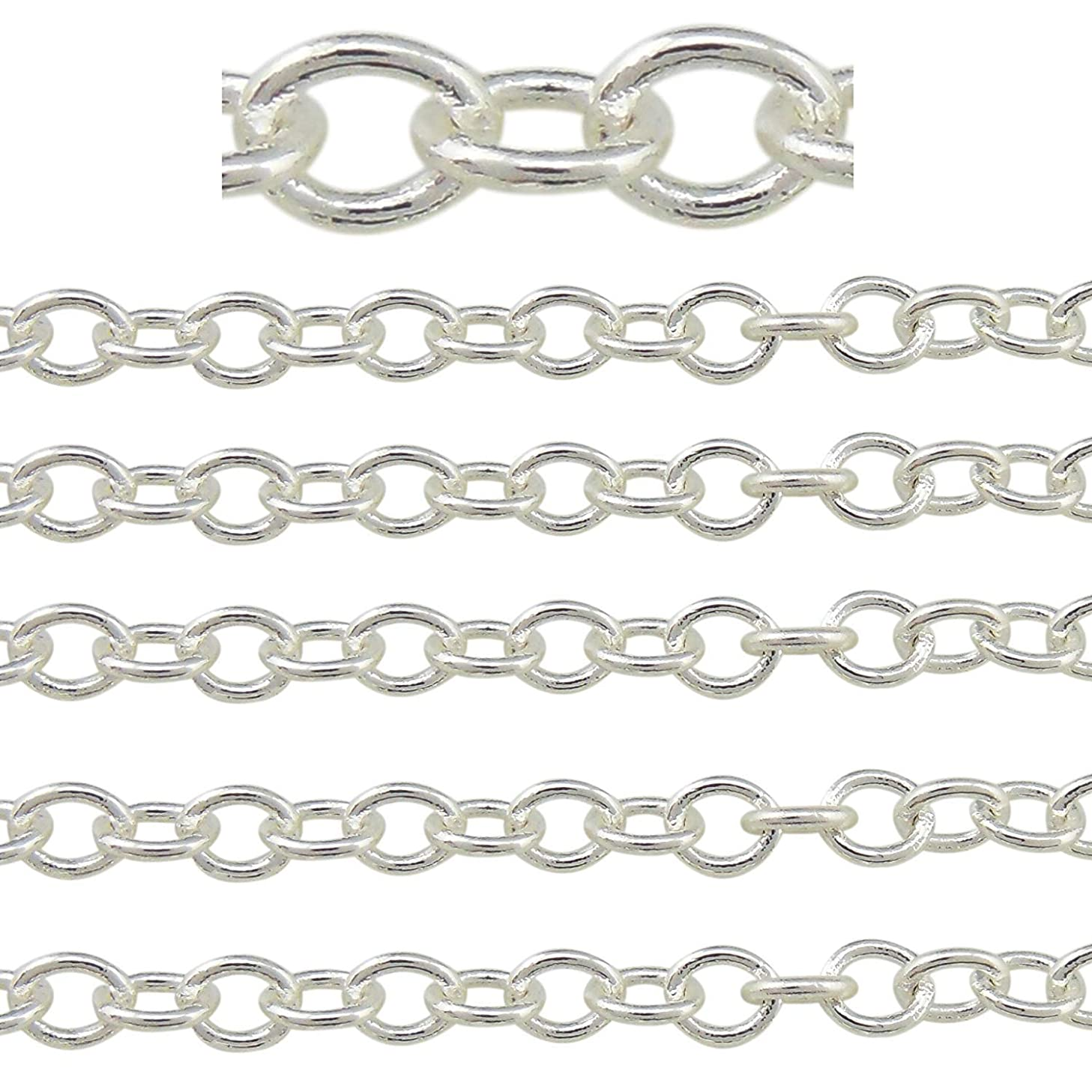 COIRIS 500'' Length 3.5MM Width Silver Color Jewelry Making Chain (PN-1023-3.5S)