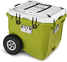 RovR Wheeled Camping Rolling Cooler with Wheels 45 qt (Moss Green)