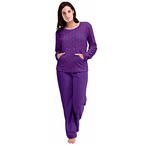 9f4fabbd16b6 Womens Warm Fleece Winter PJ Pyjama Set Night Wear PJ s Pyjamas Sets Ladies