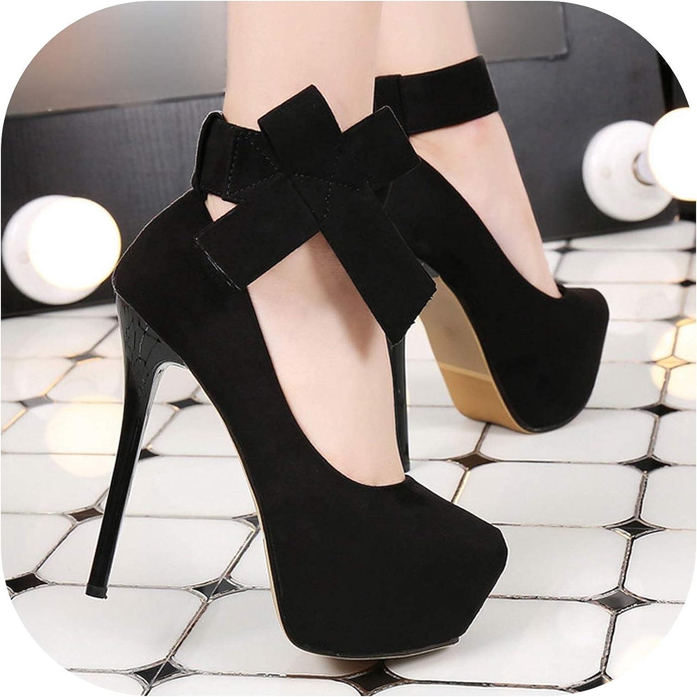 Platform high Heels Wedding shoes Platform Women shoes Bow Stiletto Bridal shoes